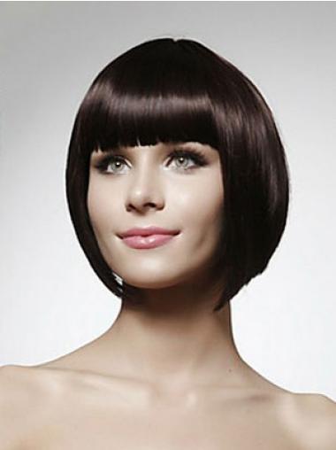 Black Bobs Straight Popular Human Hair Wigs