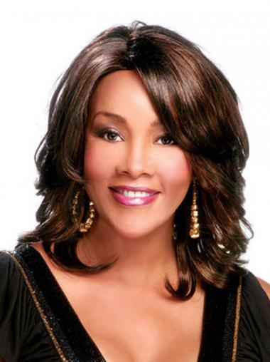 Brown Layered Curly Trendy African American Wigs