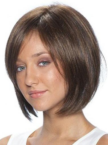 Brown Bobs Straight Hairstyles Medium Wigs