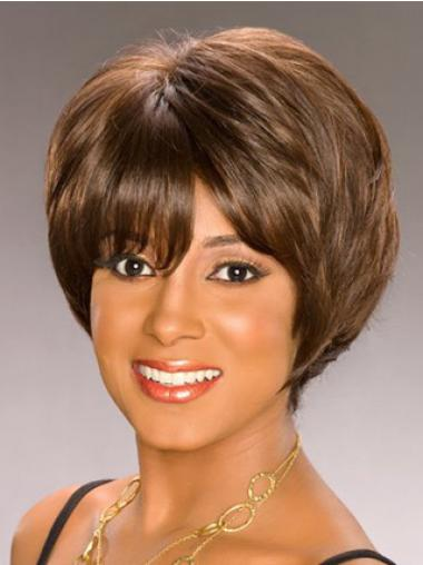 Brown Bobs Wavy Discount African American Wigs