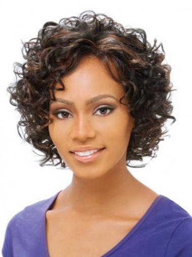 Brown Curly Sassy Petite Wigs