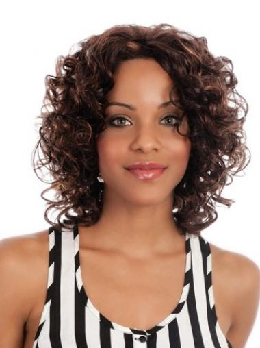 Brown Curly Fabulous Medium Wigs