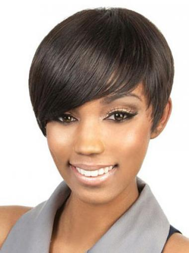 Brown Boycuts Straight Fashion Celebrity Wigs