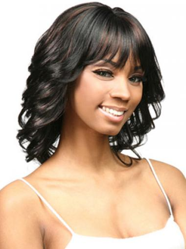 High Quality Black Layered Curly African American Wigs
