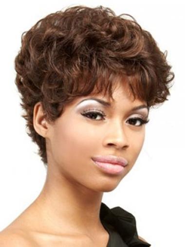 Boycuts Auburn Curly Good African American Wigs