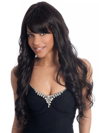 Black With Bangs Wavy New African American Wigs
