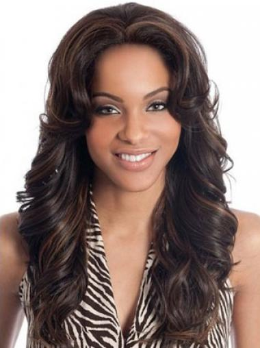Brown Indian Remy Hair Wavy High Quality Human Hair Lace Front Wigs
