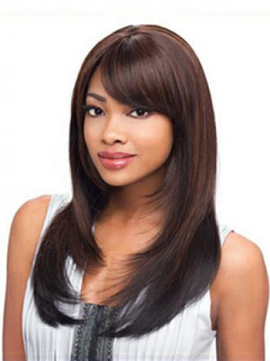 Straight Layered Auburn Discount African American Wigs
