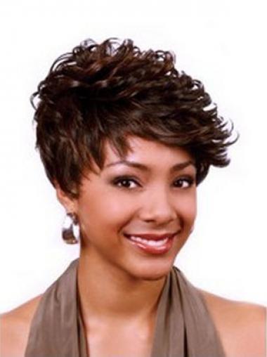 Boycuts Auburn Curly Gorgeous African American Wigs