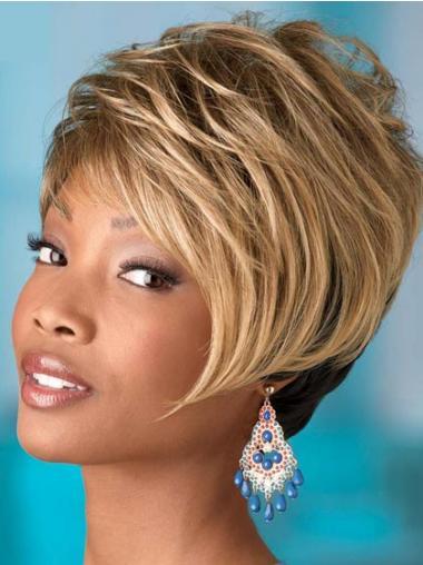Blonde Boycuts Wavy Perfect African American Wigs