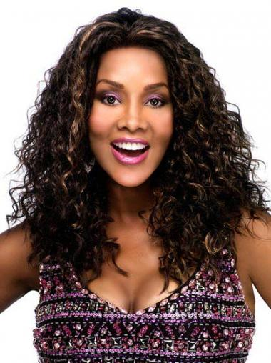Brown Curly Great Glueless Lace Front Wigs