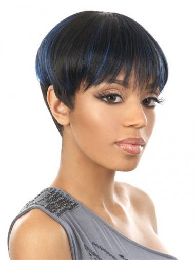 Black Boycuts Straight Stylish African American Wigs