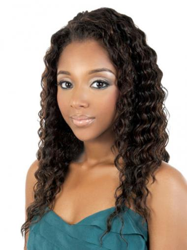 Brown Curly Durable African American Wigs