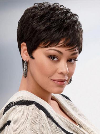 Brown Boycuts Wavy Fashionable African American Wigs