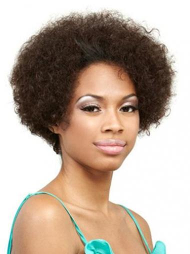 Brown Afro Curly Incredible Short Wigs