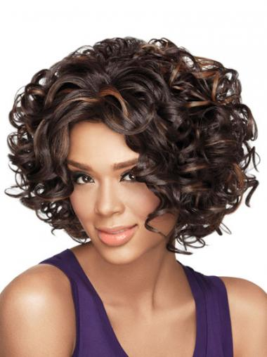 Brown Curly Exquisite African American Wigs