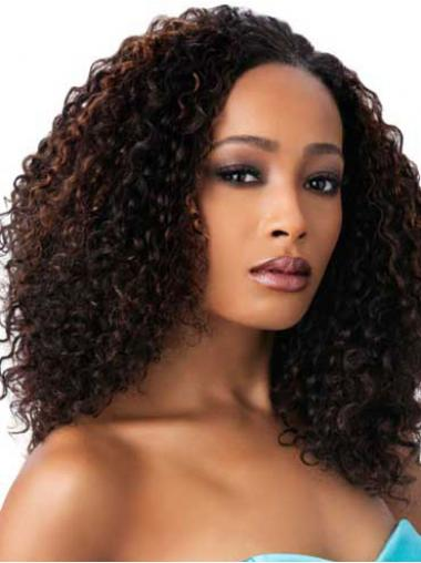 Brown Afro Curly No-fuss African American Wigs