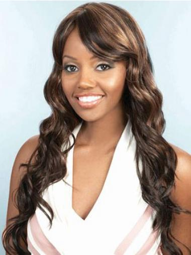 Wavy Brown Layered Cheapest African American Wigs