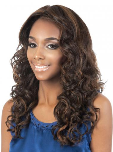 Brown Curly Soft African American Wigs