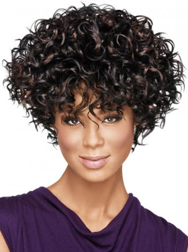 Black Afro Curly Trendy African American Wigs