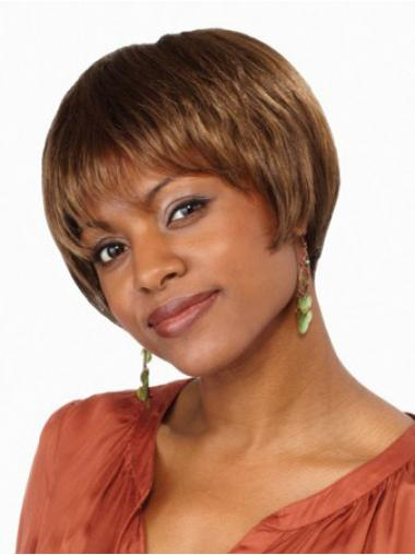 Brown Bobs Straight Ideal Short Wigs