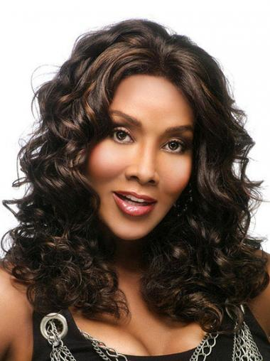 Brown Without Bangs Wavy Online African American Wigs