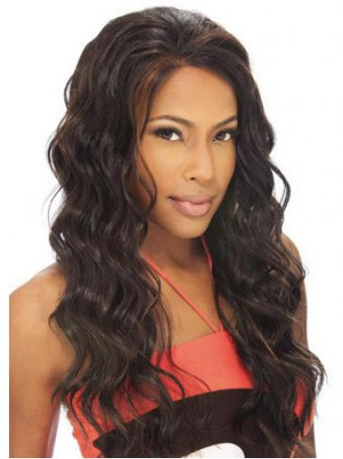 Brown Brazilian Remy Hair Wavy Fabulous Human Hair Lace Front Wigs