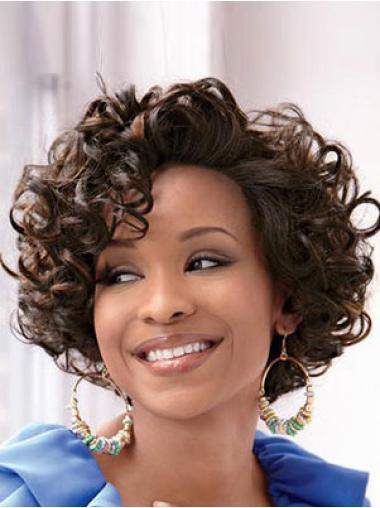 Brown Classic Curly Soft Short Wigs