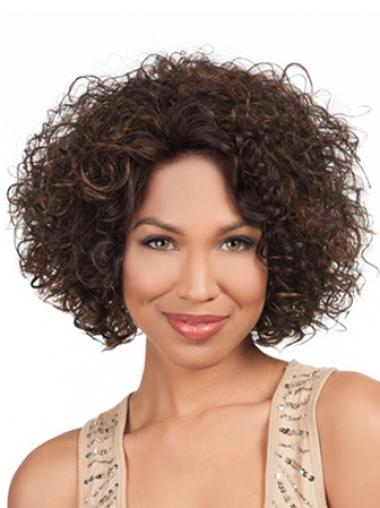 Brown Afro Curly Amazing Medium Wigs