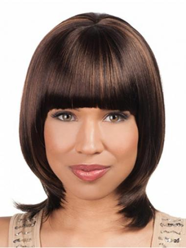 Lace Front Auburn Straight Perfect Medium Wigs