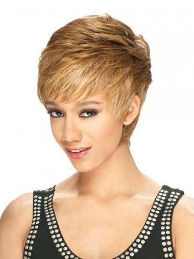 Blonde Boycuts Straight Gorgeous Short Wigs