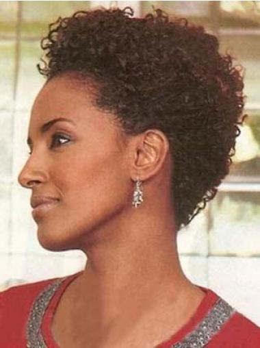 Auburn Layered Curly Top African American Wigs