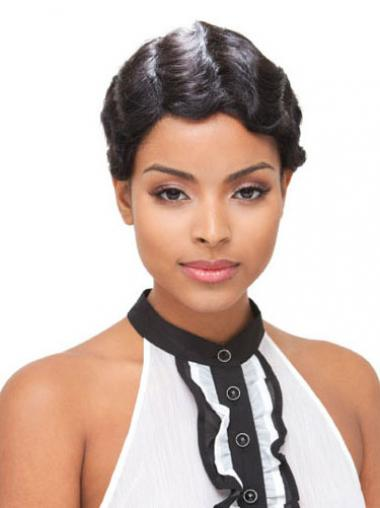 Black Boycuts Wavy Gorgeous Short Wigs