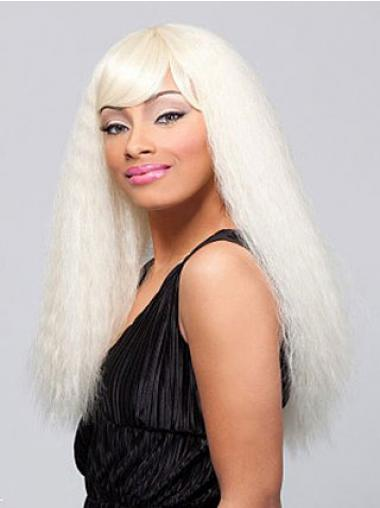 Straight Blonde Indian Remy Hair Sassy African American Wigs