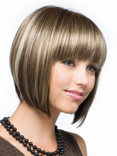 Bobs Straight Brown Discount Synthetic Wigs