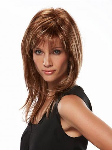 Straight Brown Layered Incredible Long Wigs