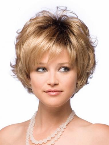 Blonde Layered Synthetic Durable Synthetic Wigs