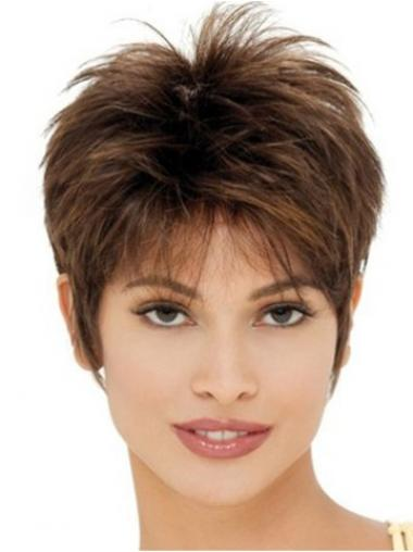 Brown Boycuts Straight Gorgeous Synthetic Wigs