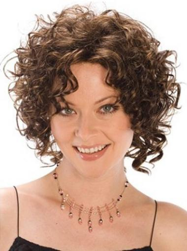 Brown Classic Curly Fashionable Synthetic Wigs