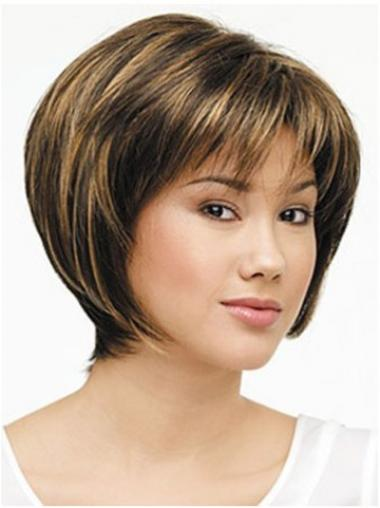 Brown Bobs Straight Modern Medium Wigs