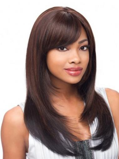Synthetic Layered Straight Designed Long Wigs
