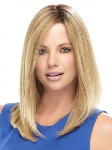 Blonde Straight No-fuss Celebrity Wigs