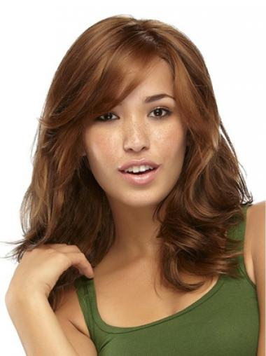 Brown Layered Wavy Ideal Synthetic Wigs