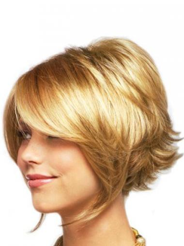 Blonde Layered Wavy Discount Medium Wigs
