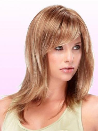 Auburn Layered Straight Incredible Medium Wigs