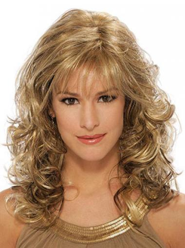 Blonde With Bangs Wavy Sassy Classic Wigs