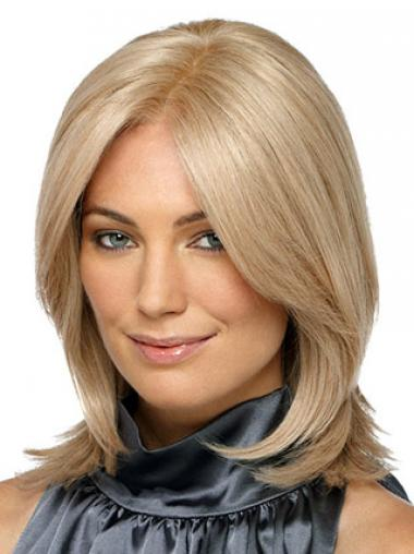 Straight Blonde Comfortable Synthetic Wigs