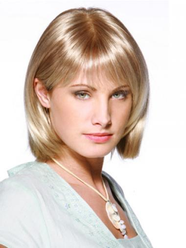 Bobs Blonde Synthetic Beautiful Medium Wigs