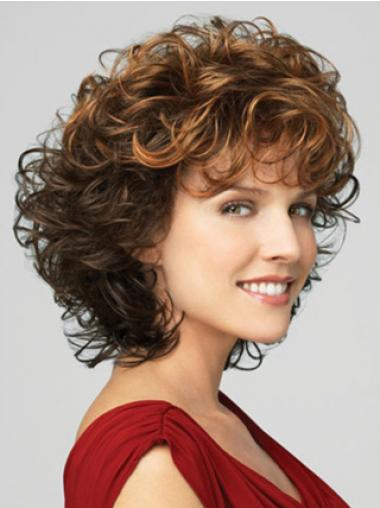 Brown Lace Front Curly Fashion Classic Wigs