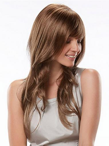 Auburn With Bangs Wavy Fashion Synthetic Wigs